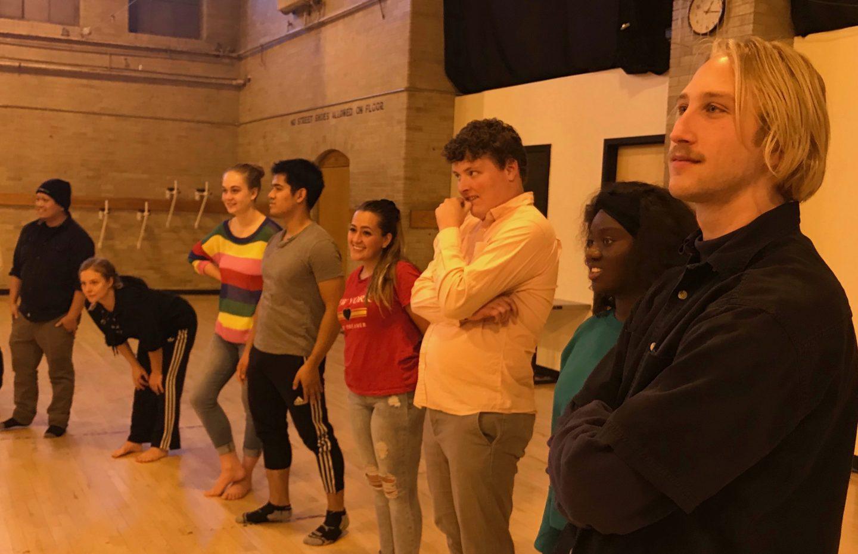 Participants waiting to participate